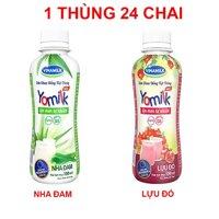 Thùng 24 chai Sữa chua uống Vinamilk Yomilk Nha đam/Lựu đỏ 150ml