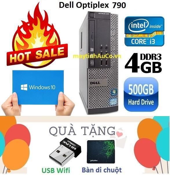 'Thùng Máy tính đồng bộ Dell Optiplex 790 Core i3 2100 / 4G / 500G - Tặng  USB Wifi , Bàn di chuột , Bảo hành 24 tháng'