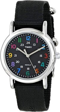Timex Women's 'Weekender Small' Quartz Brass and Nylon Casual Watch, Color:Blue
