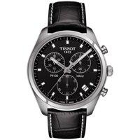 Tissot T101.417.16.051.00 PR 100 Chronograph Black Leather Quartz 41mm