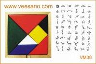 Tro choi tangram tri uan (mau sac) VM38