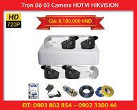 Trọn Bộ 04 Camera HIKVISION DS-2CE16C0T-IT3 (1.0MP)