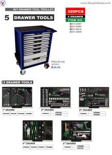 Tủ đồ nghề 7 ngăn 320 chi tiết Toptul GT-32010
