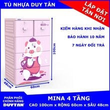 Tủ nhựa Mina Duy Tân 4 tầng 5 ngăn