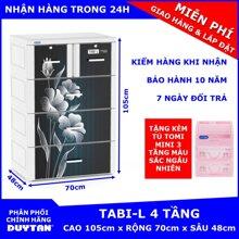 Tủ nhựa Tabi-L Duy Tân 3 tầng 4 ngăn