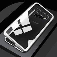 Từ Tính Hấp Phụ Ốp Lưng Điện Thoại Samsung Galaxy S10 S9 S8 Plus S10e S10Plus S10 + Ốp Lưng Kim Loại Kính Cường Lực Lưng S 10 9 8