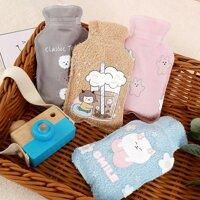 Túi chườm bụng Puha 300ml dùng nước nóng giữ nhiệt sưởi ấm cơ thể giảm đau bụng phù hợp cho các bạn nữ .