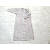 Túi ngủ cho bé dùng hè thu - Vải cotton co giãn 4 chiều mềm mát - Sọc nâu đỏ - L