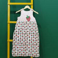 Túi ngủ cho bé hình quả dâu dễ thương - 3 - 9 tháng 70cm - 3 lớp có trần bông