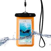 Universal Waterprooof Smart Phone Bag Cellphone Dry Bags for All Phones iphone - Orange