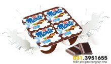 Váng sữa Monte chocolate (1t+) - 4 hộp