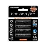 Vỉ 4 Pin Sạc AA Panasonic Eneloop Pro  2500mAh (Đen)