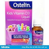 Vitamin D3 Ostelin Vitamin D Liquid Kids Úc dạng nước chai 20ml