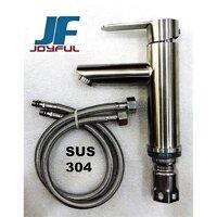 Vòi rửa mặt nóng lạnh 1 chân INox 304 BVN 505 ( Tặng kèm 1 đôi dây cấp inox 304 )