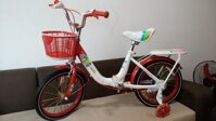 Xe đạp trẻ em nhập khẩu cho bé từ 3-6 tuổi Jinbao màu trắng đỏ cực đẹp