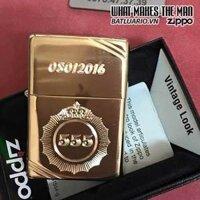 ZIPPO KHẮC LOGO THUỐC LÁ 555 – ZIPPO 270.555